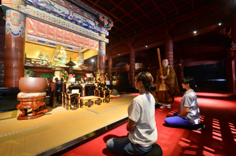 Zazen experience at Rinno-ji Temple (Photo: Business Wire)