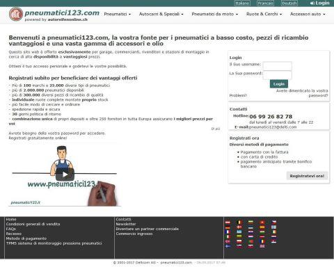 Autoreifenonline.ch ist ab sofort auch auf Italienisch verfügbar