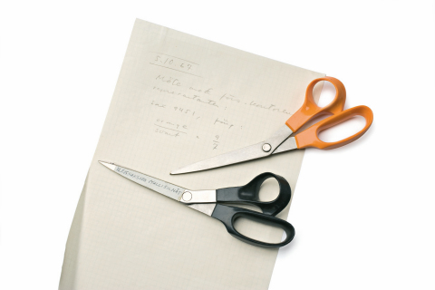 The iconic orange color is a happy coincidence. The first scissors prototype was produced with the m ...