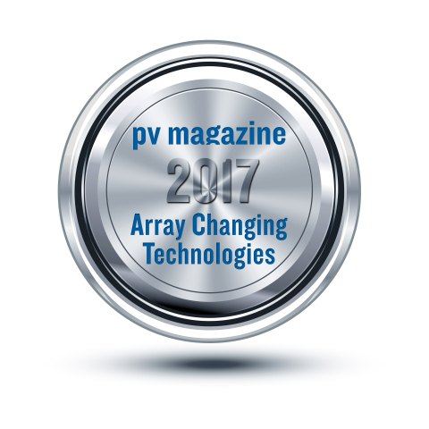 Amber Kinetics was named winner of pv magazine's Array Changing Technologies Award 2017. (Graphic: Business Wire)