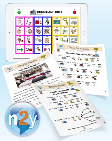 n2y is offering free downloadable materials to help children and adults with autism or intellectual disabilities understand Hurricanes Irma and Harvey. The materials are customized for the different affected areas. (Photo: Business Wire)