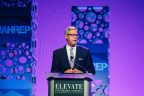Radian Executive Vice President and Chief Franchise Officer Brien McMahon opening NAHREP's 2017 Elevate Mortgage Summit. (Photo: Business Wire)