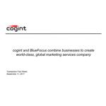 cogint Transaction Fact Sheet