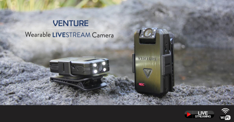 VENTURE is the World's Most Versatile, Wearable 4-in-1 Live Streaming HD Camera (Photo: Business Wir ...