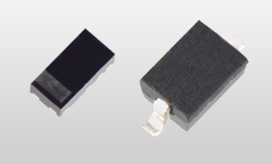"""Toshiba Electronic Devices & Storage Corporation: """"DF2SxxP2 series,"""" a new series of TVS diodes that protect USB power lines used in mobile devices. (Left: SOD-963(CST2C), Right: SOD-323(USC)) (Photo: Business Wire)"""