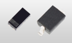 "Toshiba Electronic Devices & Storage Corporation: ""DF2SxxP2 series,"" a new series of TVS diodes that protect USB power lines used in mobile devices. (Left: SOD-963(CST2C), Right: SOD-323(USC)) (Photo: Business Wire)"