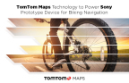 TomTom Maps Technology to Power Sony Prototype Device for Biking Navigation (Photo: Business Wire)