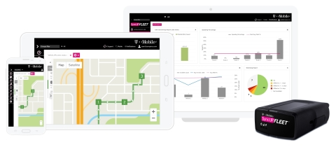 The Un-carrier expanded its highly successful SyncUP product family, unveiling T-Mobile SyncUP FLEET, a new fleet management solution for businesses. (Photo: Business Wire)