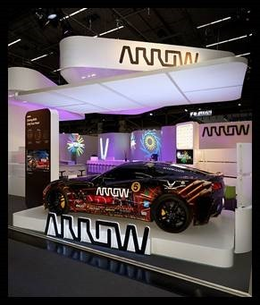 The Arrow semi-autonomous motorcar (SAM Car) will be on display at Mobile World Congress Americas. (Photo: Business Wire)