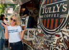 "Country music singer Cam was spotted serving Tully's® coffee to her fans from the customized Airstream® camper after her performance in Seattle for the Tully's® ""slow and low"" tour. (Photo: Business Wire)"