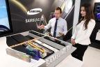 Samsung SDI exhibits multifunctional battery packs, low height cells, cylindrical batteries based on new technology standard '21700' at Frankfurt Motor Show (IAA Cars 2017). (Photo: Business Wire)