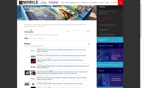 Business Wire will be making breaking Mobile World Congress Americas 2017 exhibitor news releases available through an Exhibitor Online News Center at https://www.mwcamericas.com/press-zone/exhibitor-online-news-center/ (Photo: Business Wire)