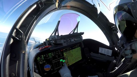Sixty percent smaller than a conventional HUD, BAE Systems' LiteHUD® head-up display fits seamlessly into almost any cockpit.(Photo: BAE Systems)