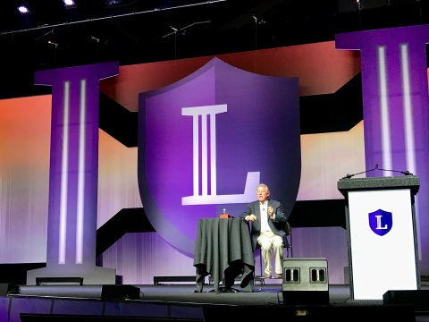 Best-selling author John C. Maxwell addressed LegalShield's Leaders @ All Levels convention in Columbus, Ohio. (Photo: Business Wire)