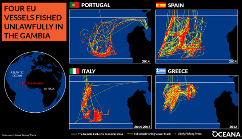 EU vessels fish unlawfully in African waters (Graphic: Business Wire)