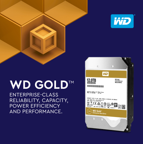 WD Gold 12TB High-Capacity Hard Drives (Photo: Business Wire)