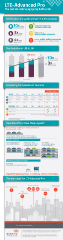 Infographic: LTE-Advanced Pro - The last 4G technology jump before 5G (Graphic: Business Wire)