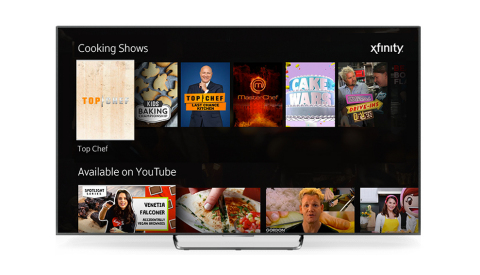 Comcast Debuts Integrated YouTube App on Xfinity X1 (Photo: Business Wire)