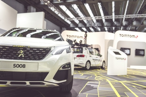 TomTom Exclusively Presents the All-New PEUGEOT 5008 SUV at IAA Frankfurt (Photo: Business Wire)