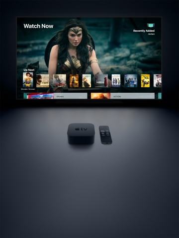 Apple TV 4K brings home the magic of cinema with 4K and HDR. (Photo: Business Wire)