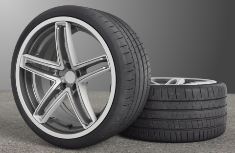 The Maxion Flexible Wheel with Michelin Acorus technology is a wheel designed and built to withstand the toughest road conditions for large diameter, low profile tires. (Photo: Business Wire)