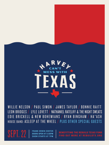 Harvey Can't Mess with Texas Relief Concert to air on TEGNA Stations across Texas and on youtube.com/texasstrong (Photo: Business Wire)