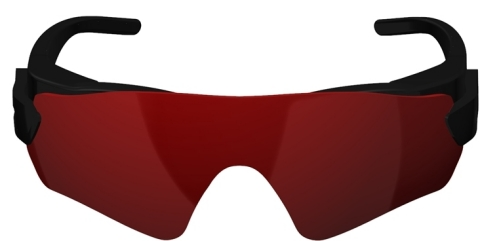 A graphical representation of new augmented reality glasses being developed by BAE Systems (© BAE Systems 2017).