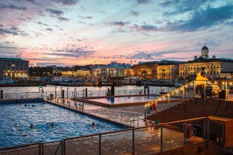 Helsinki is ranked as the 9th most liveable city in the world and number one in the Nordic region. Photo: Allas Sea Pool in Helsinki, photo by Eetu Ahanen. (Photo: Business Wire)