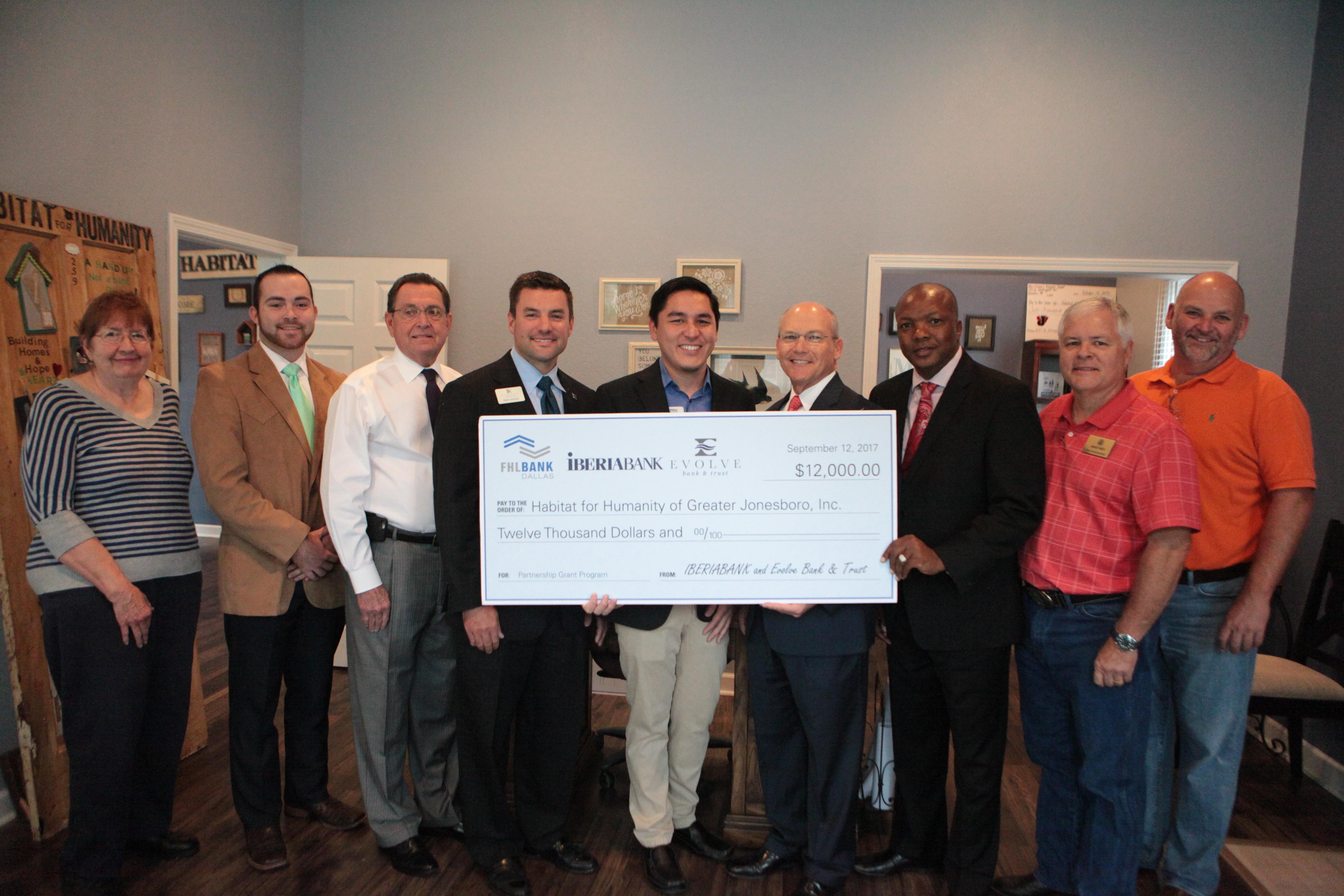 IBERIABANK Evolve Bank and Trust FHLB Dallas Award K to