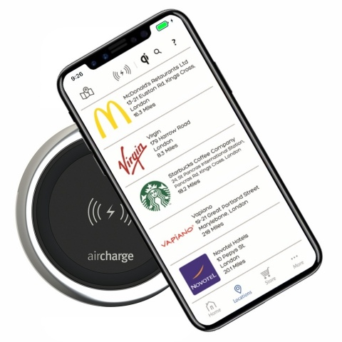 The new iPhone X is fully compatible with the Aircharge solution (Photo: Business Wire)