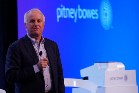 Marc Lautenbach, President and CEO, Pitney Bowes (NYSE: PBI) launches technology partner initiative and global hackathon with Google at Google's New York office. (Photo: Business Wire)