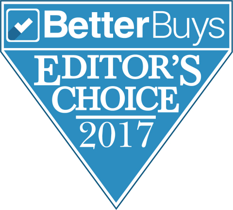 Toshiba Tec Corporation's e-STUDIO4508LP, the hybrid Multi-function peripheral (MFP) capable of producing erasable as well as standard monochrome prints, earned Better Buys Q3 2017 Editor's Choice Award. The industry's first-of-its-kind product received the coveted honor by outperforming a wide array of other monochrome copiers in side-by-side comparisons. (Graphic: Business Wire)