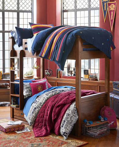 """Game Day"" Bedroom from the Harry Potter Collection by PBteen available today in stores and online"