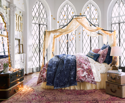 """Magical Damask"" Bedroom from the Harry Potter Collection by PBteen available today in stores and online"