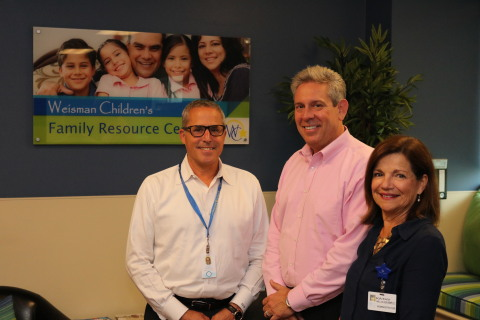 Scott Goldberg, Administrator of Voorhees Pediatric facility with Mike Rosiak, Regional VP and Kathy ...