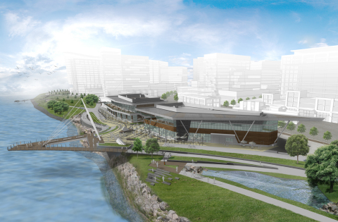 Rendering of The Waterfront Vancouver on the Columbia River in Vancouver, Wash. (Graphic: Business Wire)