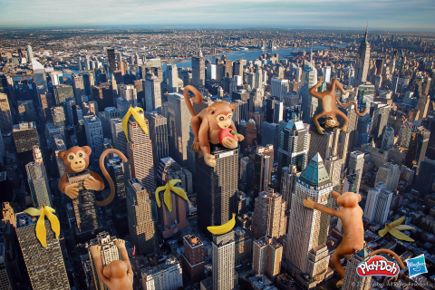 As part of the World PLAY-DOH Day celebrations, digital artists Stephen McMennamy and Kim Hall each reimagined three of their favorite destinations with a creative PLAY-DOH lens. (Photo: Business Wire).