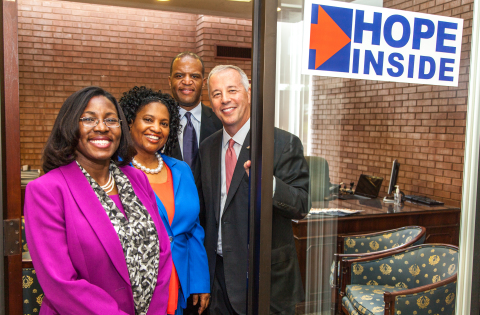 "Operation HOPE's ""HOPE Inside"" financial empowerment centers are set up inside bank branches, including this Regions location in St. Louis, Mo. (Photo: Business Wire)"