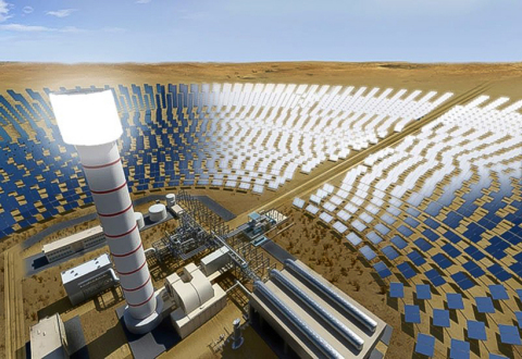 DEWA project will have the world's tallest solar tower, measuring 260 metres (Photo: AETOS Wire)