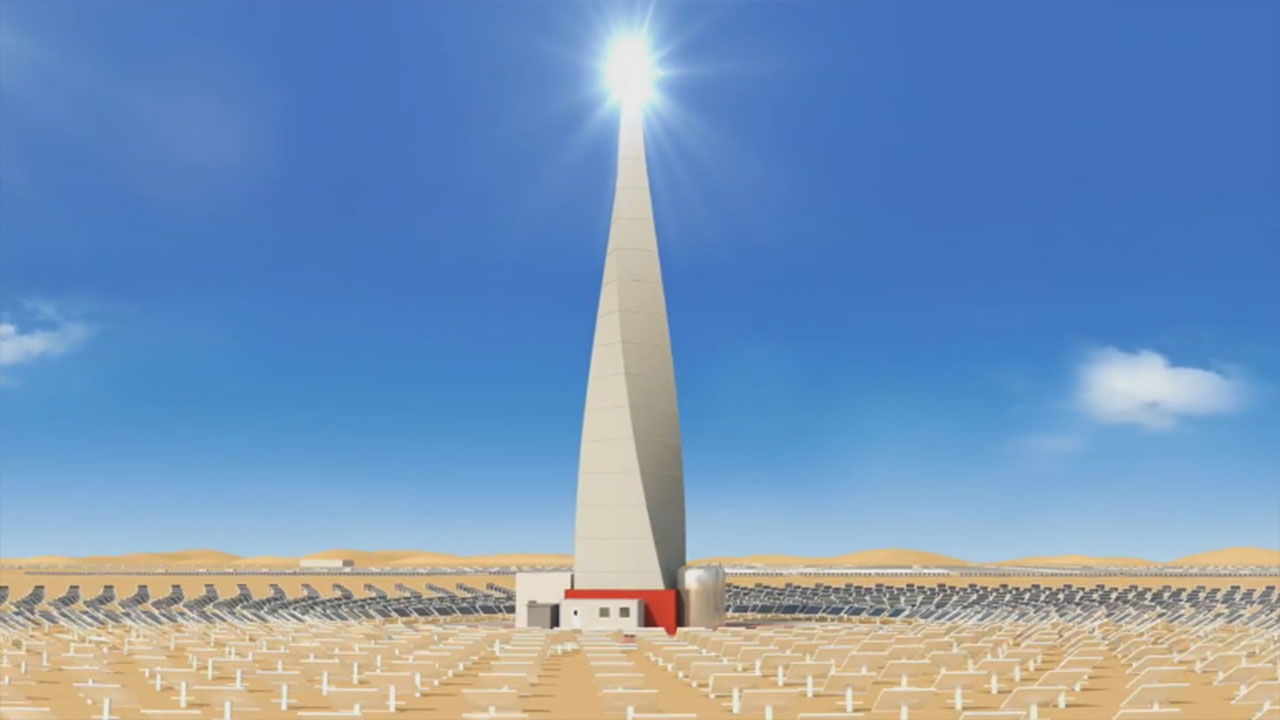 DEWA project will have the world's tallest solar tower, measuring 260 metres (Video: AETOS Wire)