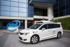 Waymo's self-driving Chrysler Pacifica hybrid minivans feature Intel-based technologies for sensor processing, general compute and connectivity, enabling real-time decisions for full autonomy in city conditions. (Credit: Intel Corporation)
