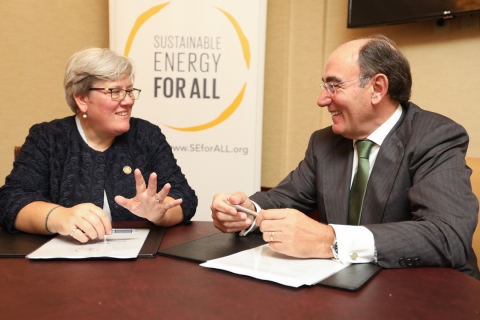 Iberdrola Chairman Ignacio S. Galán joins SEforAll CEO Rachel Kyte to support clean energy for every ...