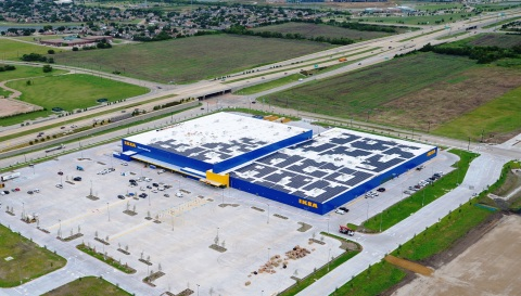 Solar Installation Complete Atop Future IKEA Grand Prairie, Opening Late Fall 2017 (Photo: Business Wire)