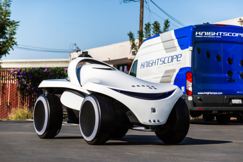 The K7 is a four-wheel form factor for an Autonomous Data Machine capable of traversing more difficult terrain and larger environments. (Photo: Business Wire)