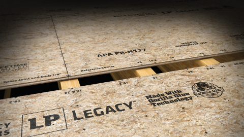 LP Legacy premium sub-flooring made with Gorilla Glue Technology offers superior strength and industry-leading stiffness. (Photo: Business Wire)