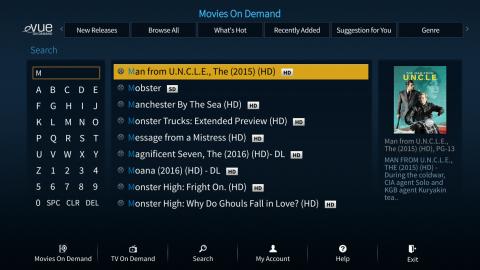 Evolution Digital's eVUE-TV User Interface (Photo: Business Wire)