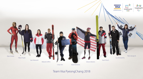 Visa is excited to announce the #TeamVisa roster of athletes who are going for gold at #PyeongChang2018. (Photo: Business Wire)