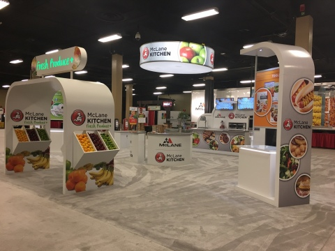 McLane Kitchen Booth at the 2017 McLane National Trade Show (Photo: Business Wire)