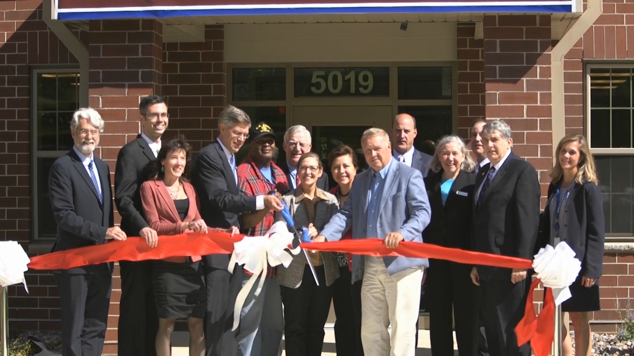 B-Roll of ribbon-cutting for Veterans East (Video: Adam Zuehlke).