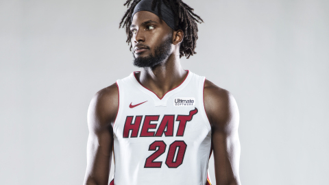 The Miami HEAT jersey will carry the Ultimate Software logo beginning in the 2017-18 season. (Photo: ...